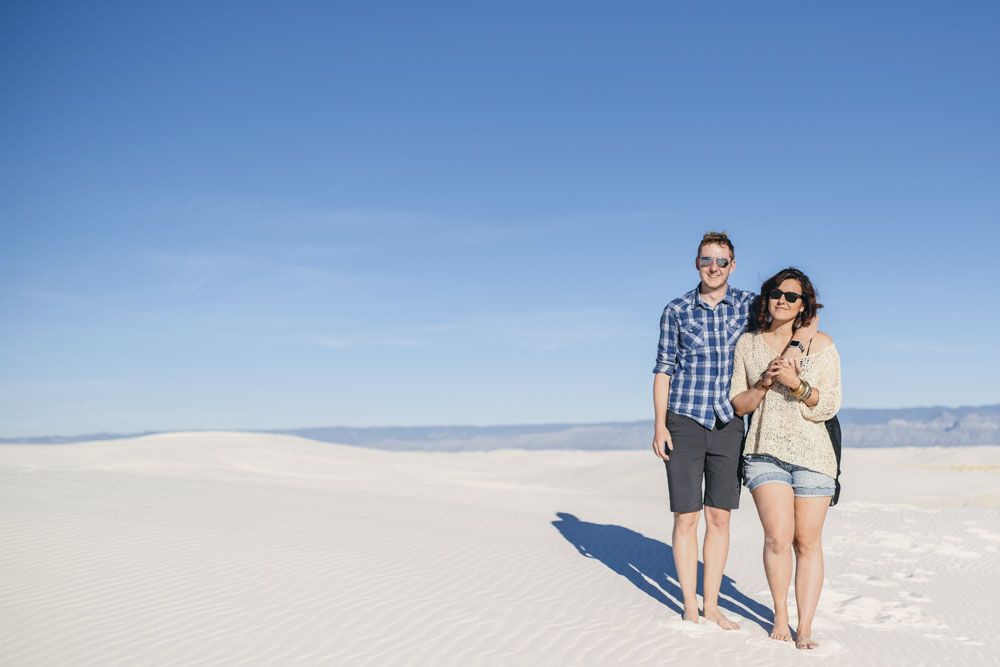 Couple in white sands national monument