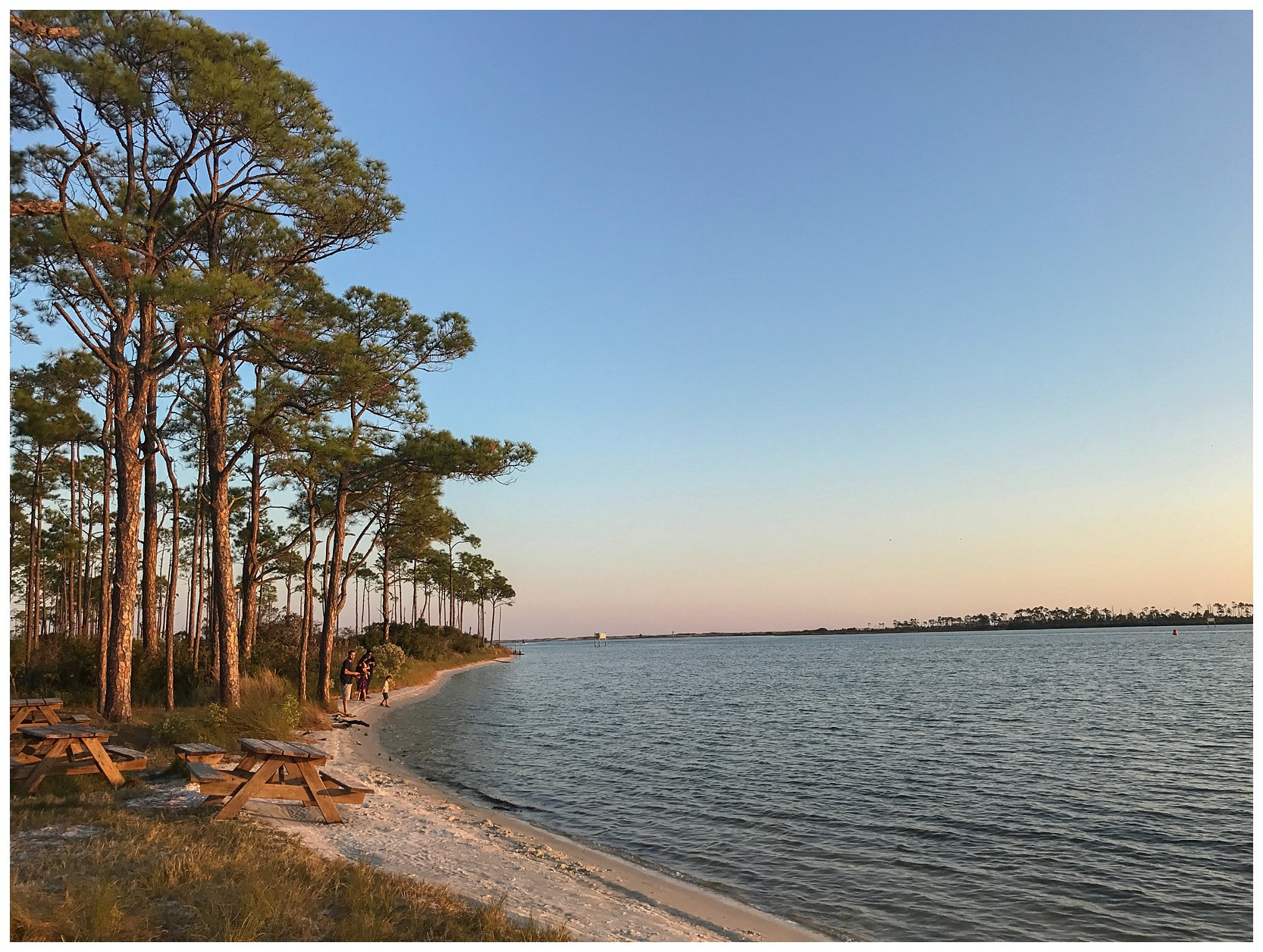 The beaches at Big Lagoon State park